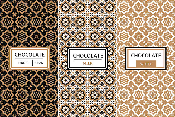 bildbanksillustrationer, clip art samt tecknat material och ikoner med chocolate packaging set - departementet chocó colombia
