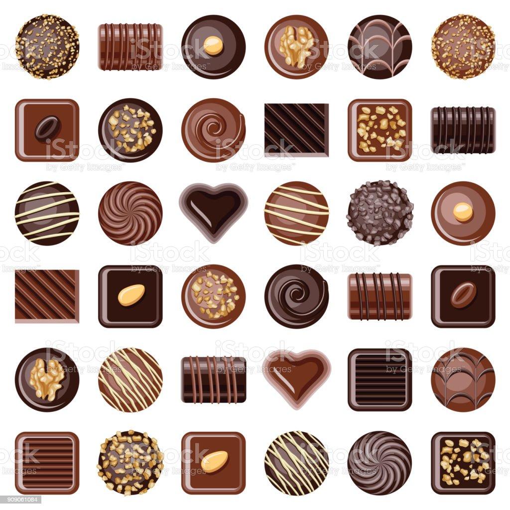Bombons de Chocolate - ilustração de arte em vetor