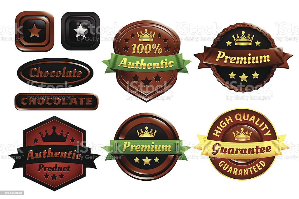 Chocolate Premium Authentic Badges royalty-free chocolate premium authentic badges stock vector art & more images of accuracy