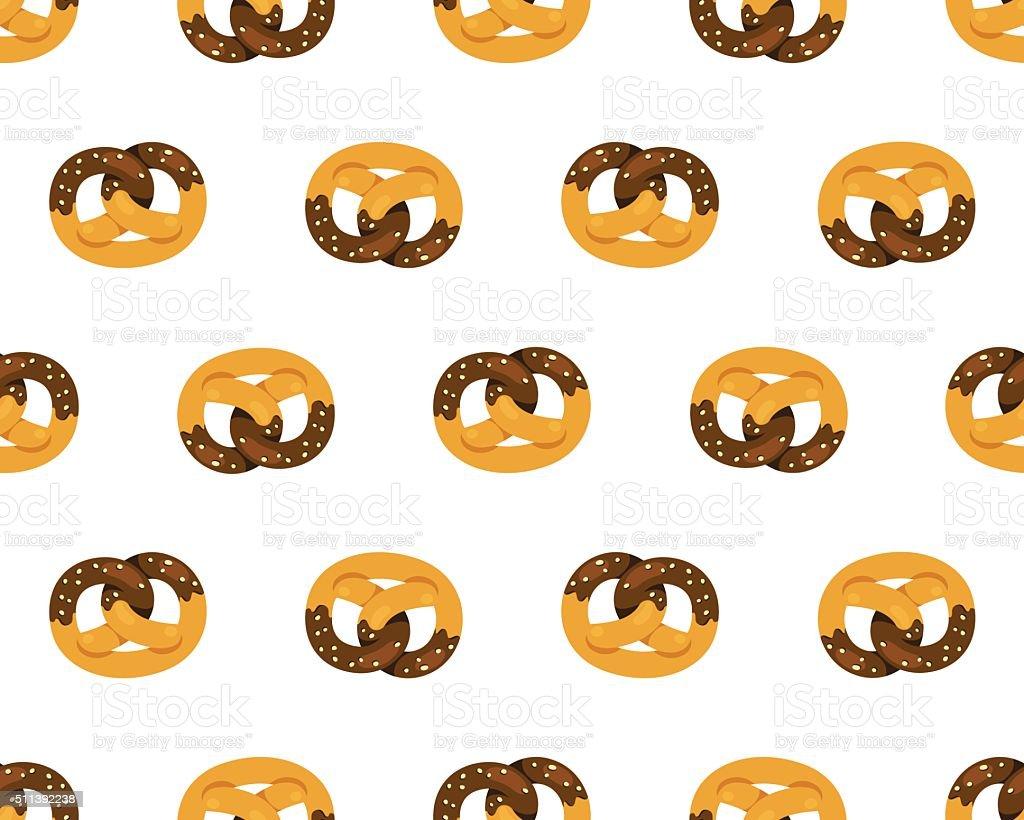 Schokolade Breze Muster – Vektorgrafik