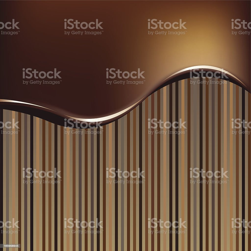 A chocolate ripple effect striped background royalty-free stock vector art