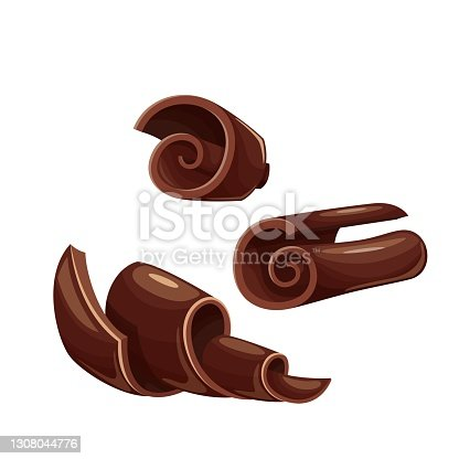 istock Chocolate shaving icon 1308044776