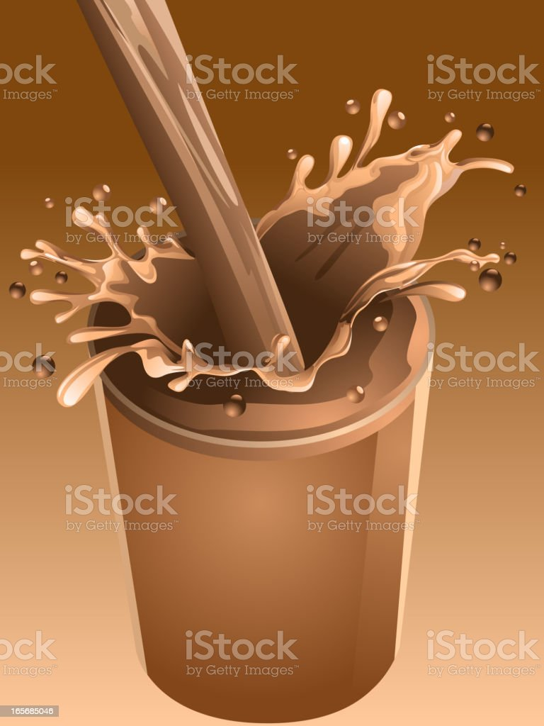 Chocolate Splash royalty-free stock vector art