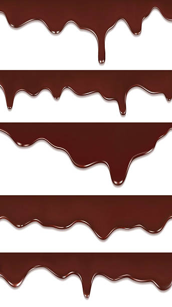 chocolate streams isolated on white chocolate streams isolated on white melting stock illustrations