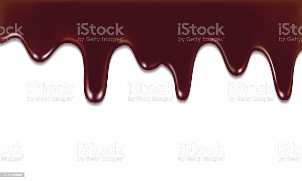 chocolate streams vector art illustration