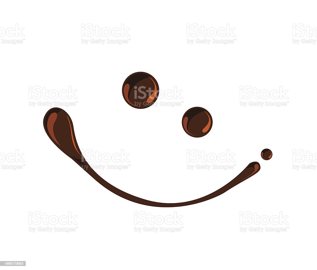 Chocolate syrup smile symbols vector vector art illustration