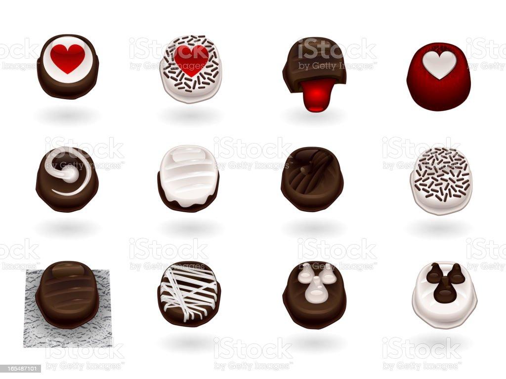 Chocolate Truffles for Somone Special! vector art illustration