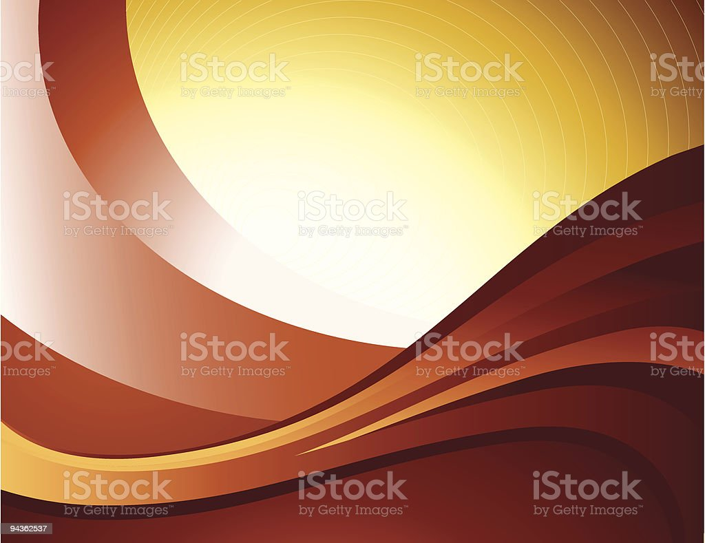 Chocolate Waves Background royalty-free stock vector art