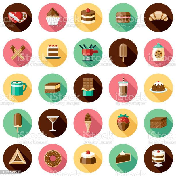 초콜릿 아이콘 세트 0명에 대한 스톡 벡터 아트 및 기타 이미지