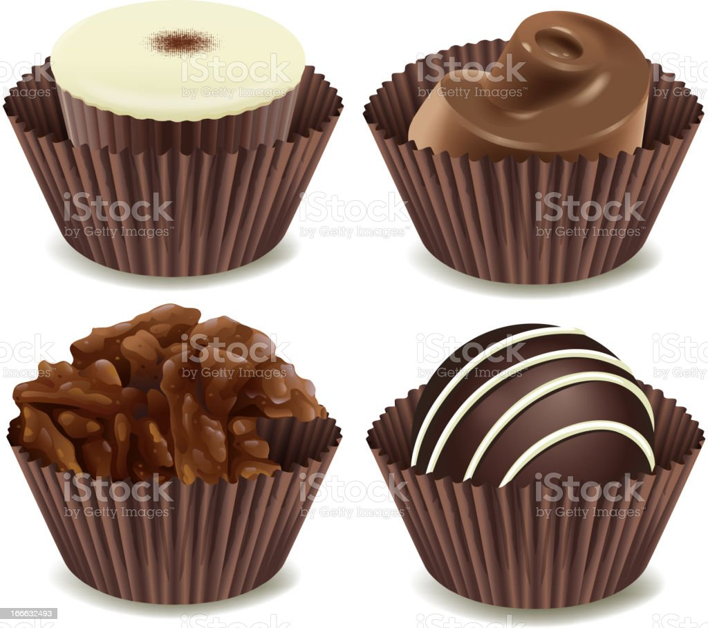 Chocolates royalty-free chocolates stock vector art & more images of bakery