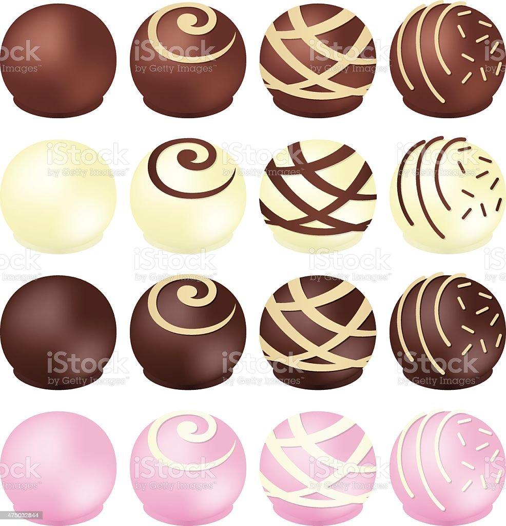 Chocolates vector art illustration