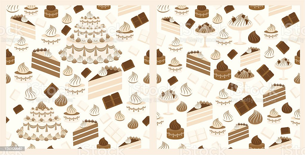 Choco-sweet pattern royalty-free stock vector art