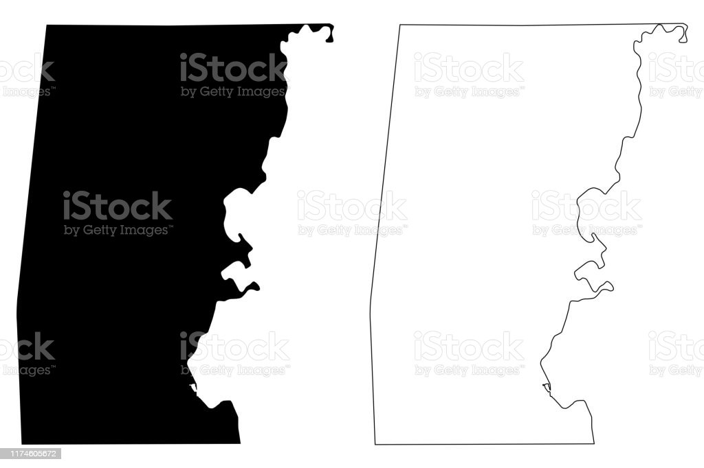Choctaw County Alabama Map Vector Illustration Scribble ...