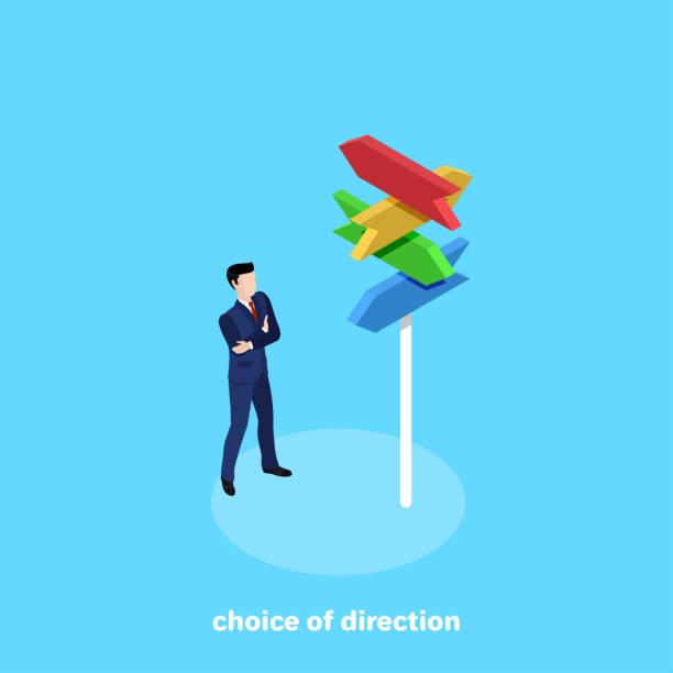 choice of direction vector art illustration