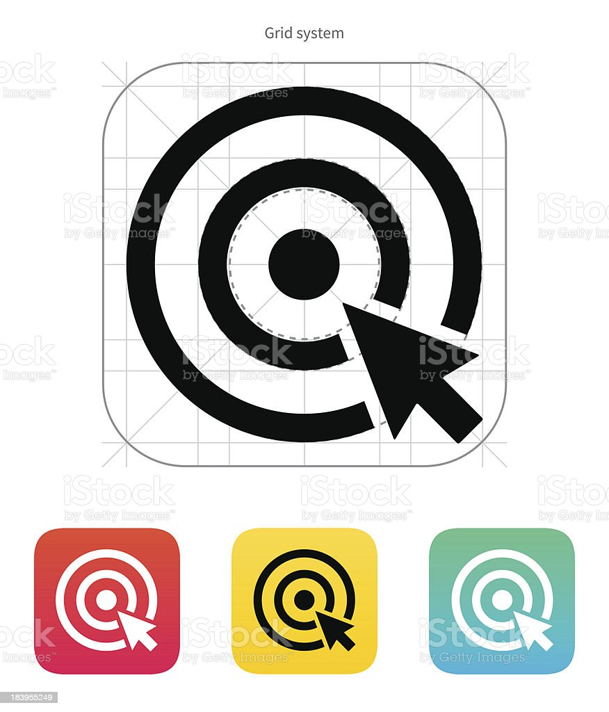 Choice, target icon. royalty-free choice target icon stock vector art & more images of accuracy