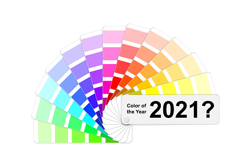 choice trend color of the year 2021 concept