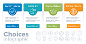 Choices infographic template concepts.