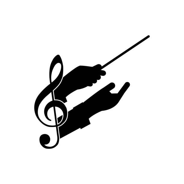 chorleitermusik - bandleader stock-grafiken, -clipart, -cartoons und -symbole