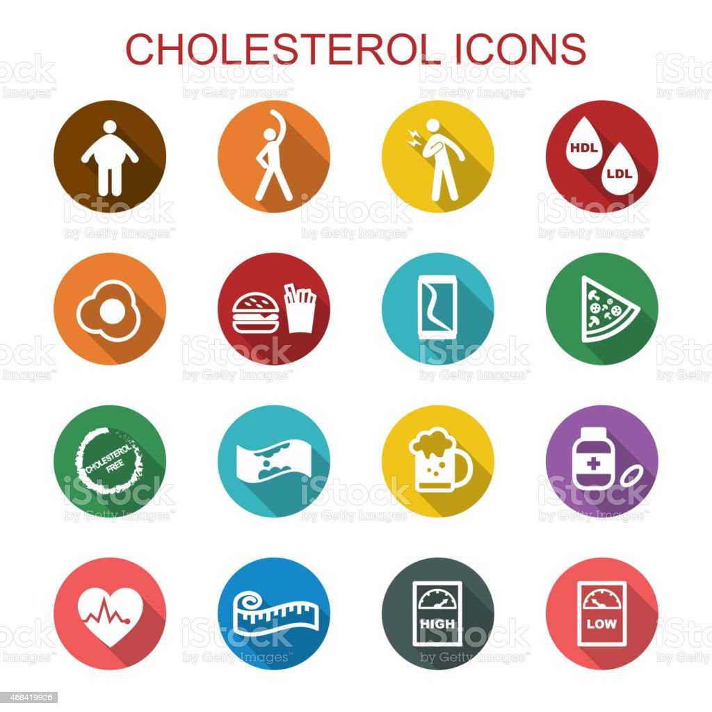 cholesterol long shadow icons
