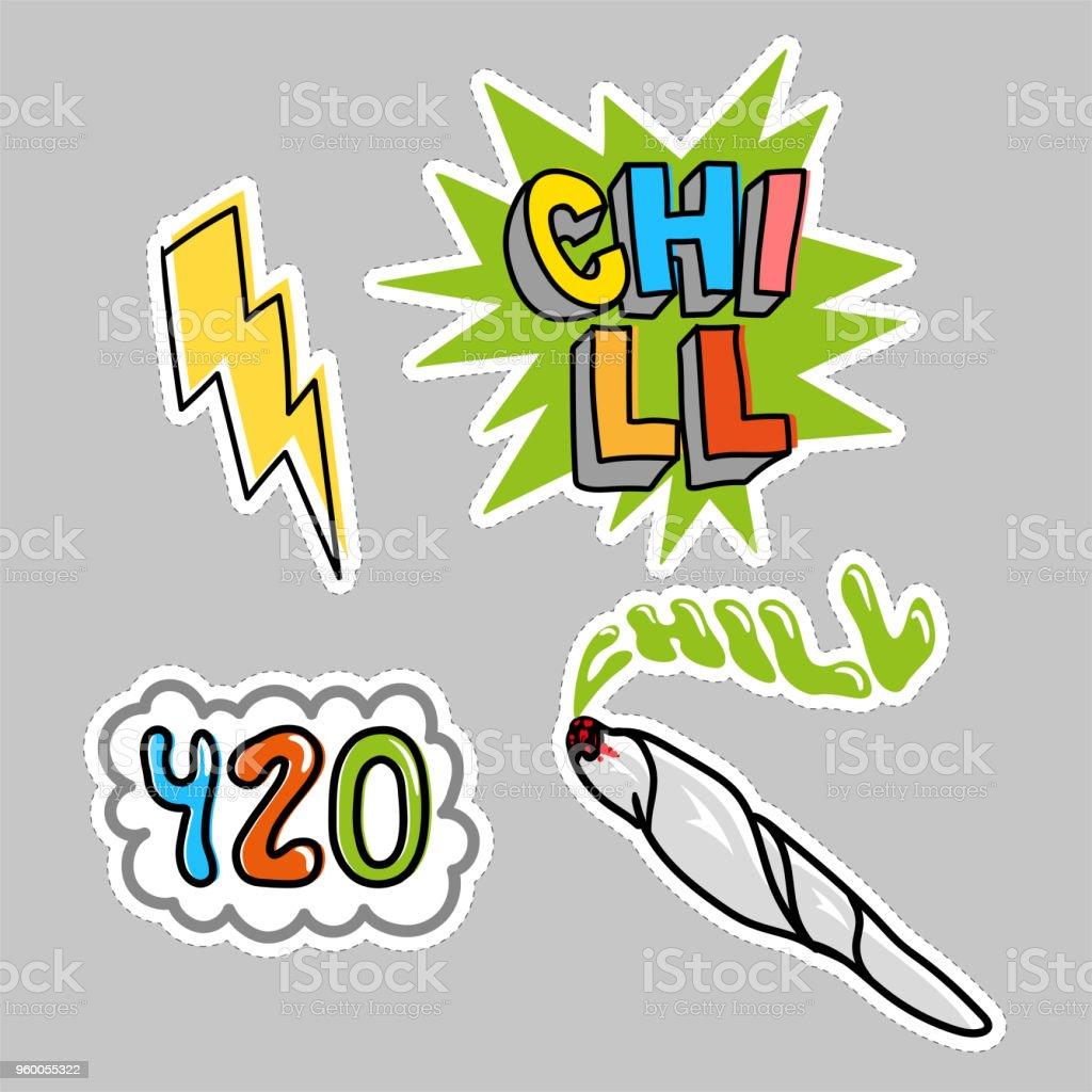 Choll sticker pack set vector art illustration