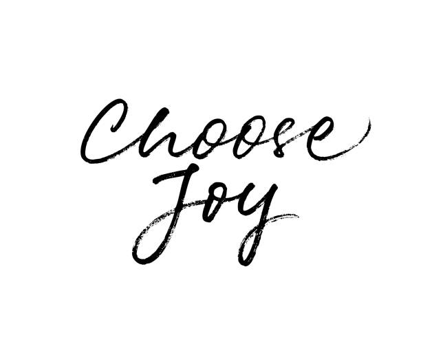 choose joy card. - radość stock illustrations