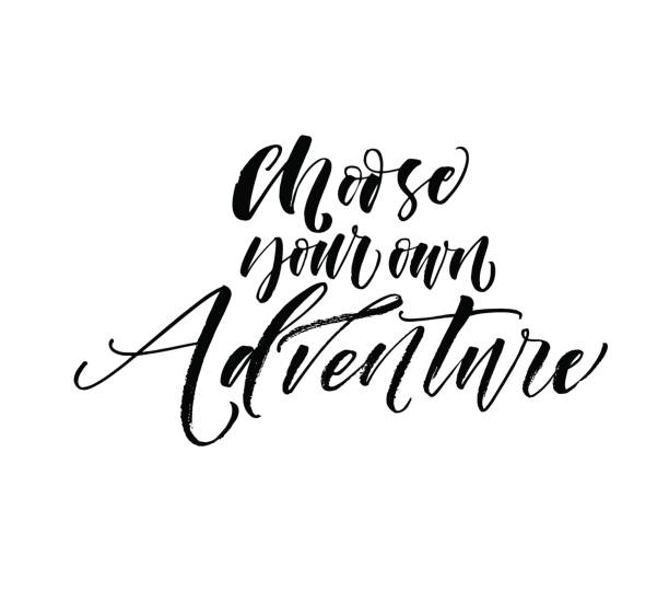 Wählen Sie Ihr eigenes Abenteuer-Postkarte. – Vektorgrafik