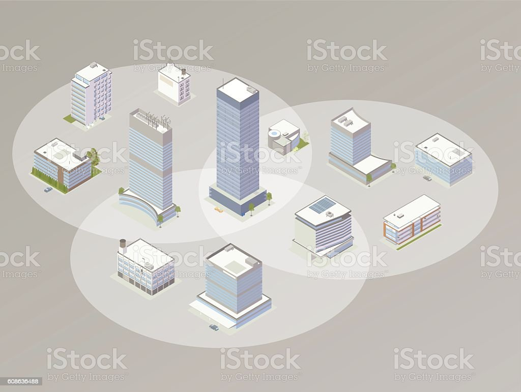 Choosing a company illustration vector art illustration