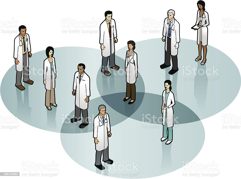 Choosing a Doctor royalty-free stock vector art