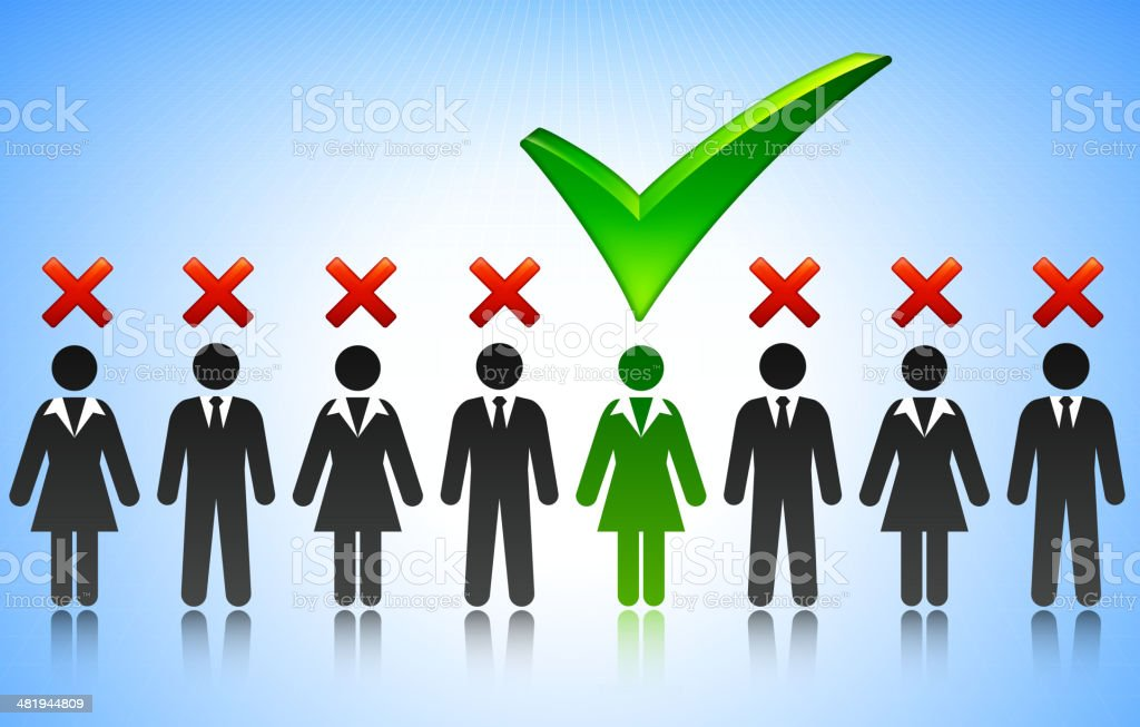 Choosing Candidate Concept Stick Figures royalty-free stock vector art