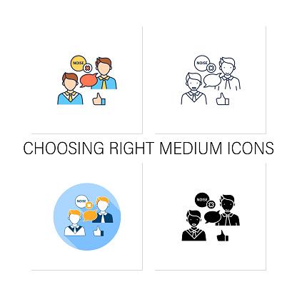 Choosing right medium icons set