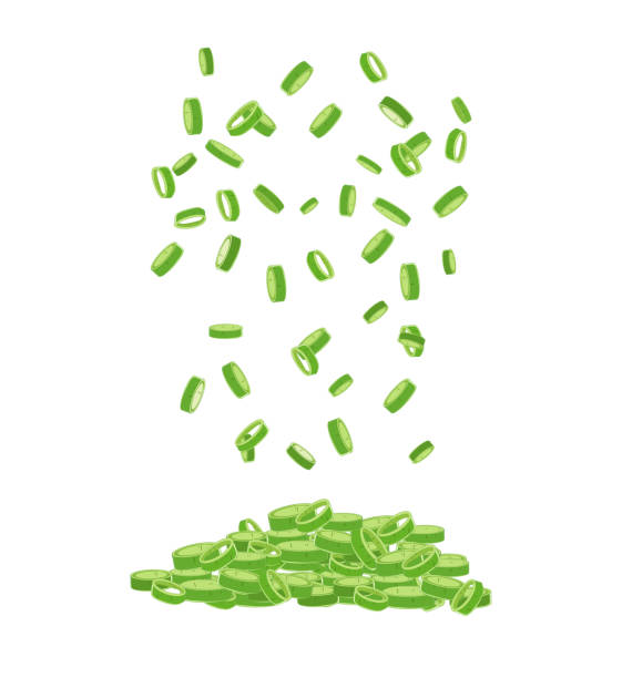 Chopped Fresh Green Onions Chives isolated. Chopped fresh green onions. scallion stock illustrations