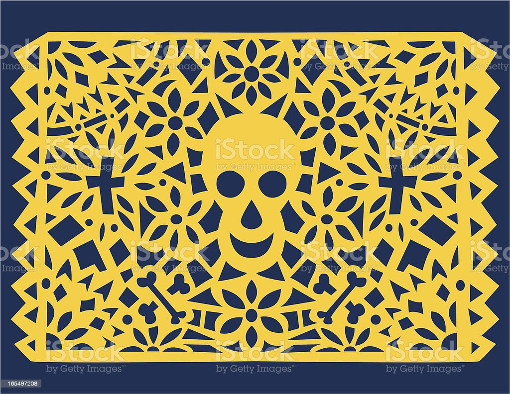 Papel Picado Skull royalty-free papel picado skull stock vector art & more images of art and craft