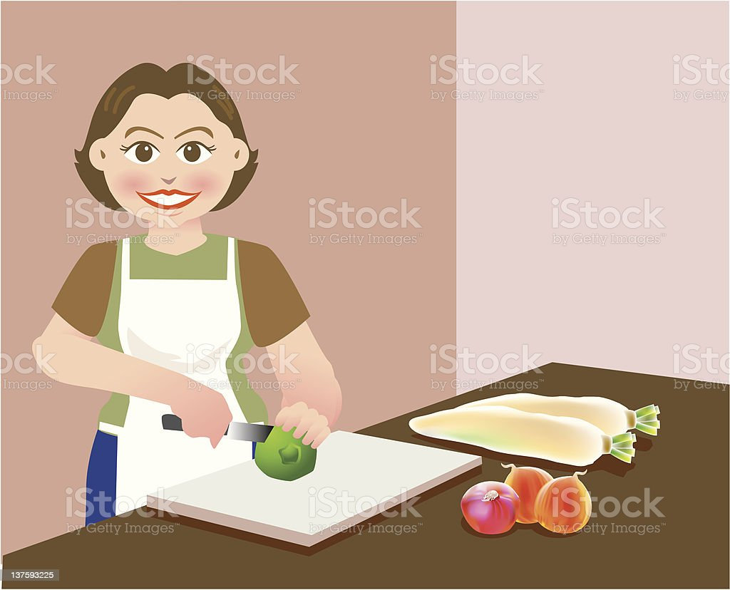 chopping royalty-free chopping stock vector art & more images of adult