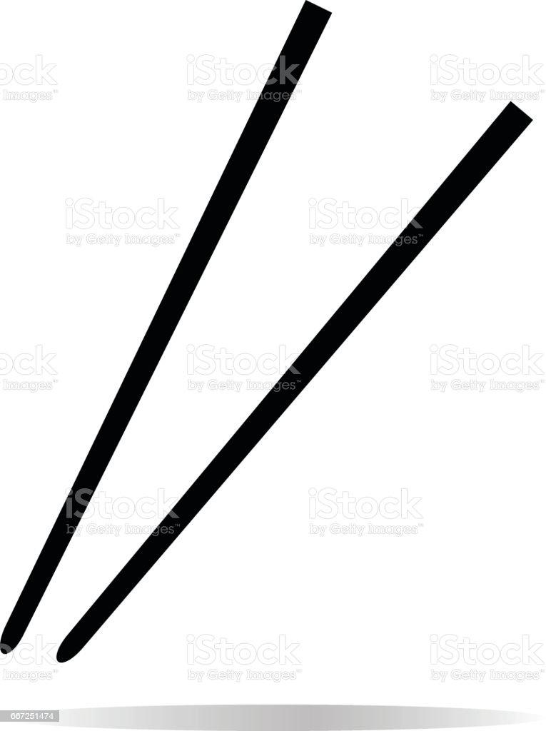Chopsticks icon on white background. Chopsticks sign. vector art illustration