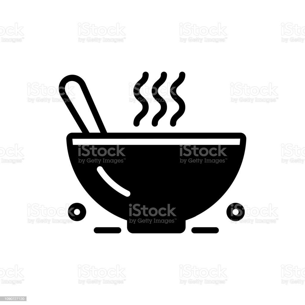 Chowder bowl vector art illustration