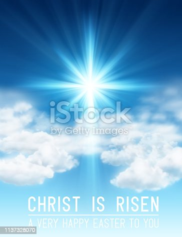istock Christ is Risen Easter Background 1137328070