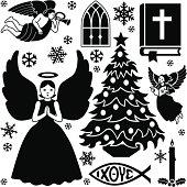 Christian Christmas design elements
