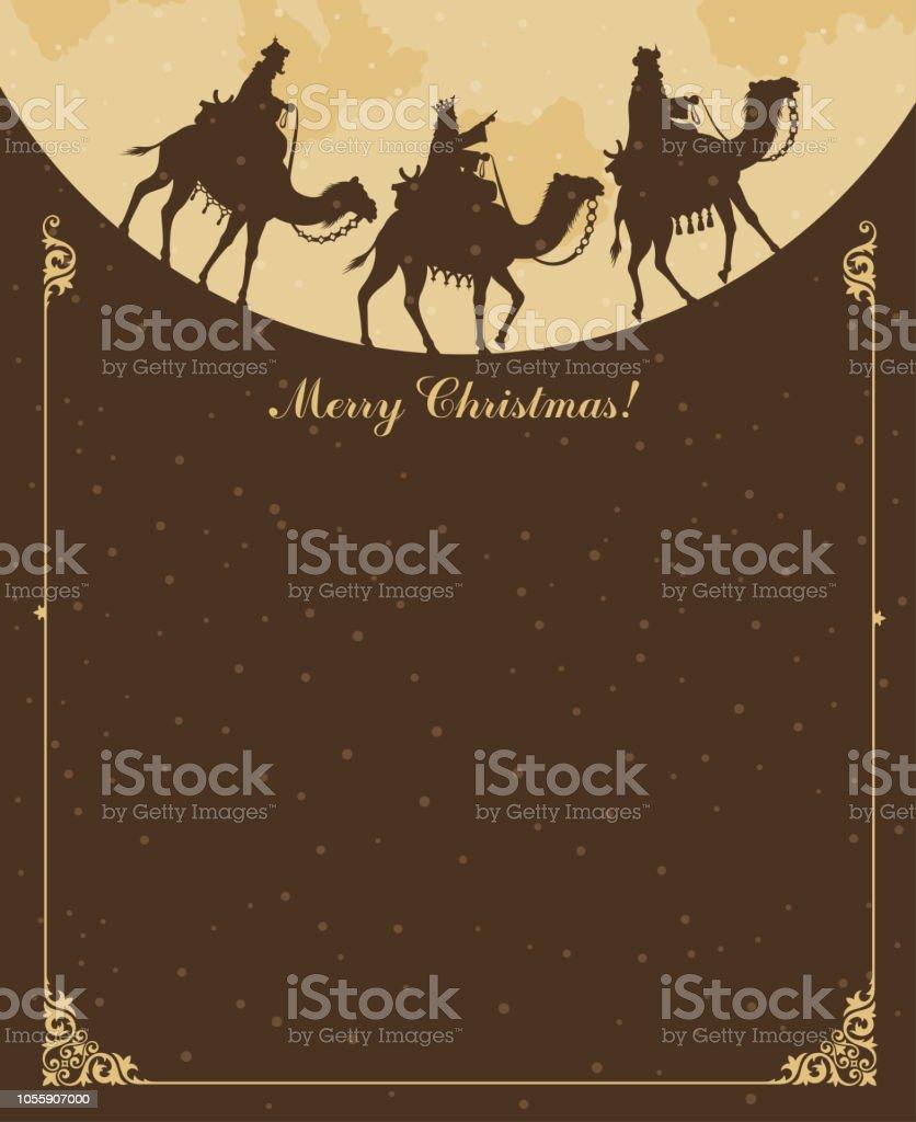 Christian Christmas - Nativity Scene vector art illustration