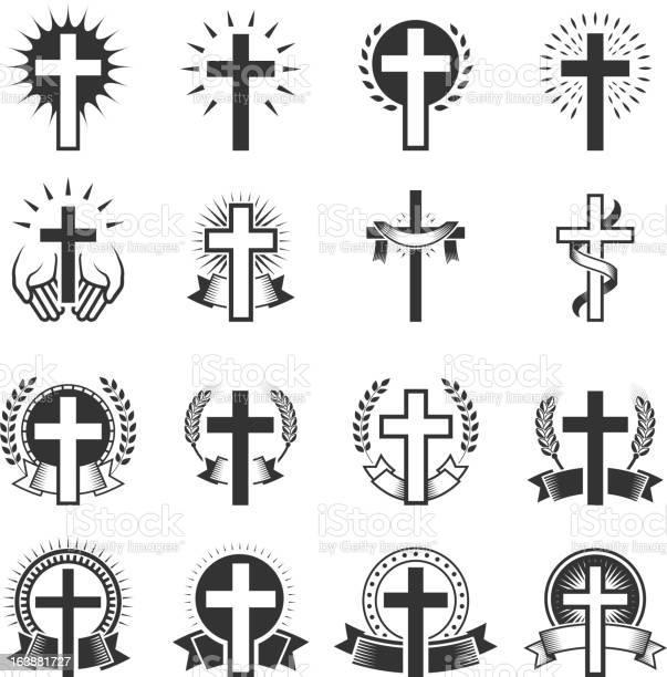 Christian cross black and white royalty free vector icon set vector id163881727?b=1&k=6&m=163881727&s=612x612&h=c42ceyzxcqg3uczrqyef hacil95aykpysp sufkseg=