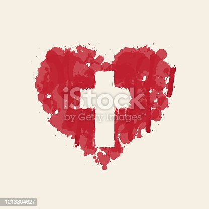 istock christian cross in the abstract red heart inside 1213304627