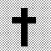 istock Christian cross isolated on transparent background. Religious symbol. 1220133967