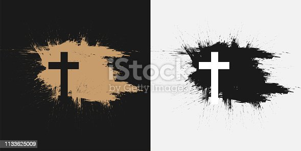 istock Christian cross, symbol of death and salvation. 1133625009