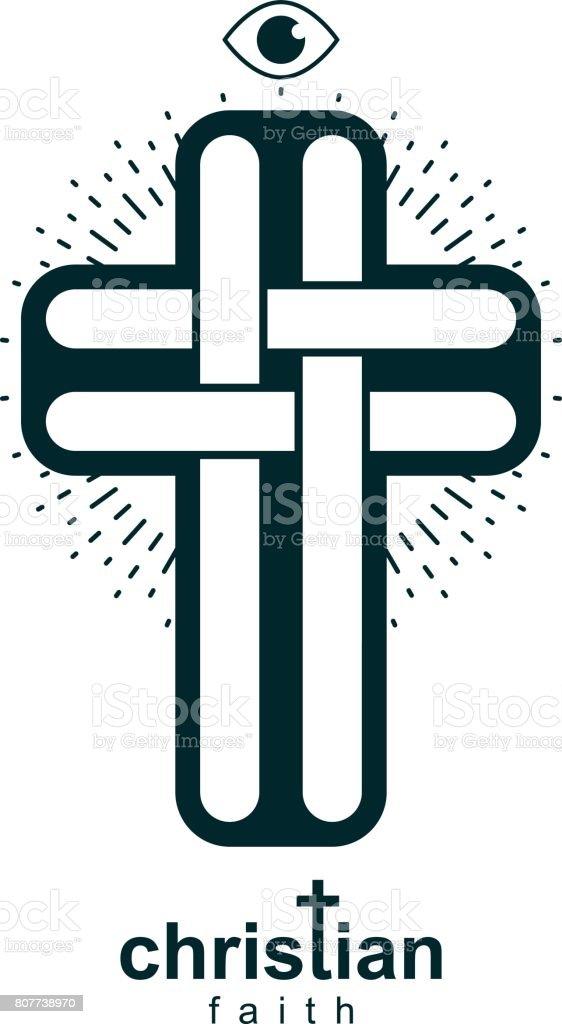 Christian Cross True Belief Vector Religion Symbol Christianity
