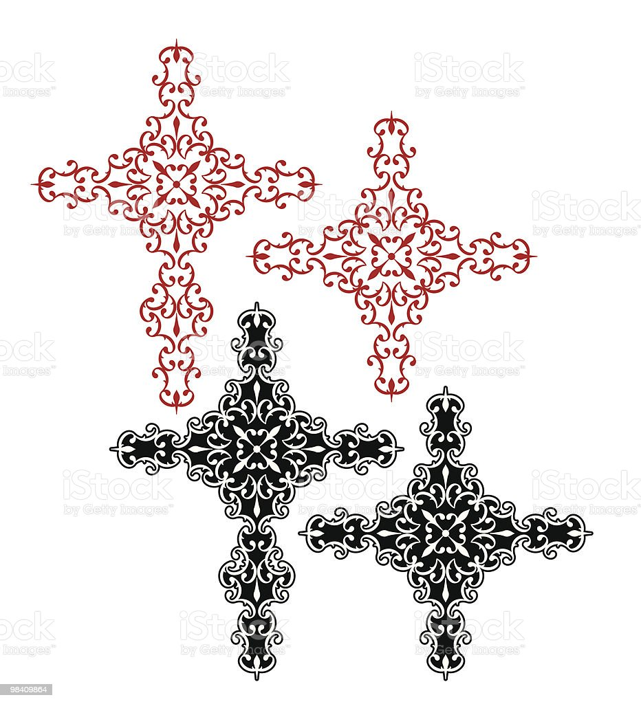 Christian Cross christian cross - immagini vettoriali stock e altre immagini di arabesco royalty-free