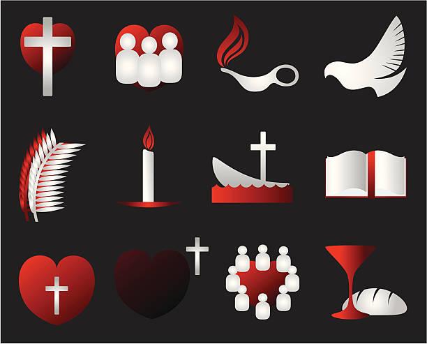 Christian design elements vector art illustration