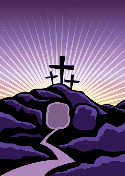 christian easter background illustration - ash wednesday stock illustrations, clip art, cartoons, & icons