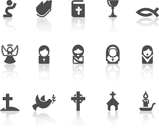 christian icons | simple black series - religious symbols stock illustrations, clip art, cartoons, & icons
