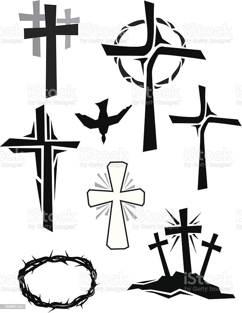 Christian Icons vector art illustration