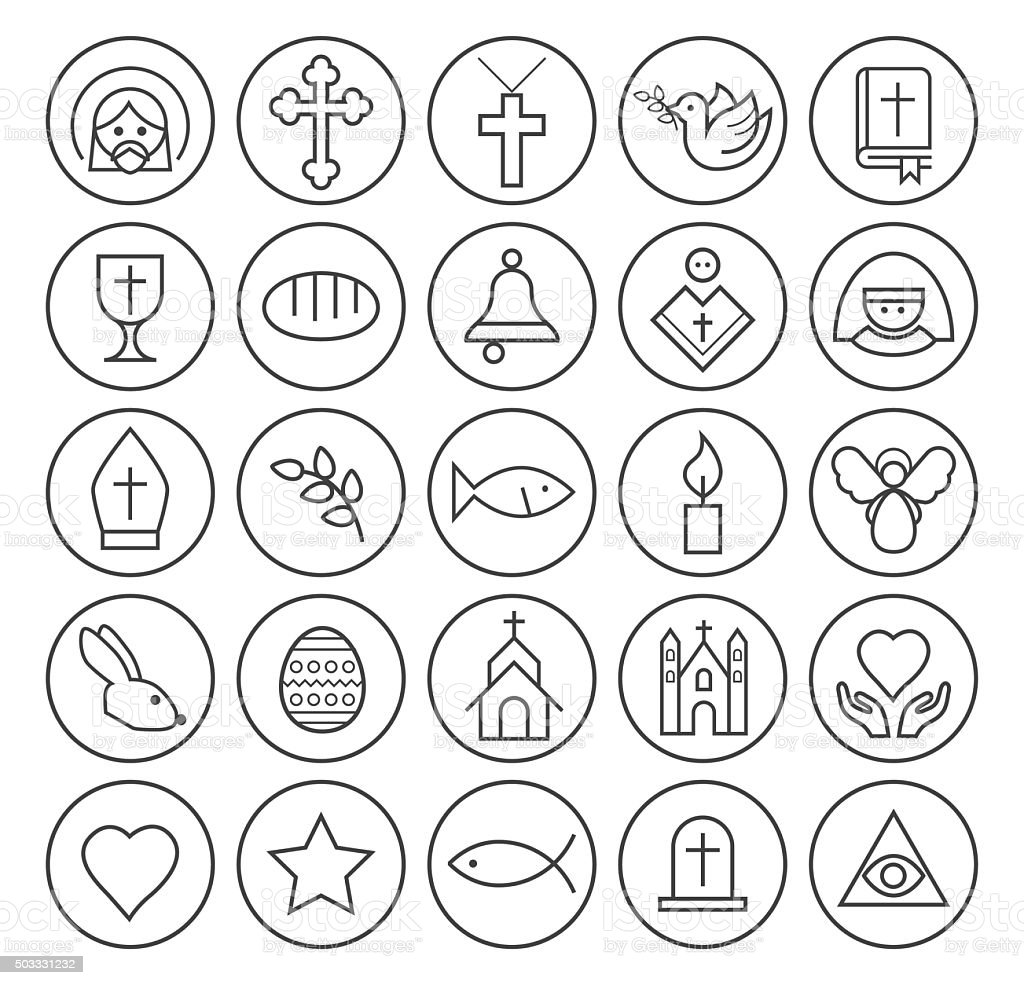 Christian Icons. vector art illustration