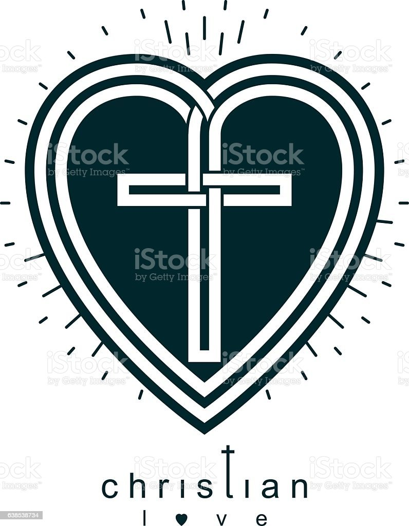 Christian love and true belief in god vector creative symbol stock christian love and true belief in god vector creative symbol royalty free stock vector art buycottarizona